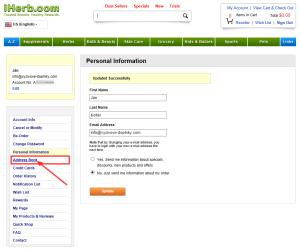 registracia na iHerb 6 - zadanie postovej adresy
