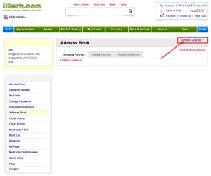 registracia na iHerb 7 - pridat adresu
