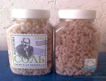 jemne mletá morská soľ očistená od vápniku, arzénu a jódu